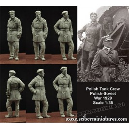 Polish FT17 Tank Crew (1919-1920) - Scibor Miniatures 350010