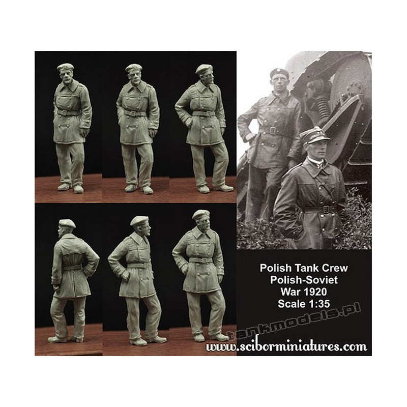 Polish FT17 Tank Crew - Scibor Miniatures 35010