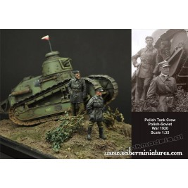 Polscy czołgiści FT-17 (1919-1920) - Scibor Miniatures 35013