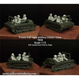 C2P artillery tractor Crew Set 1 - Ścibor Miniatures 72HM0014