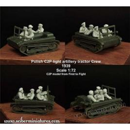 Polska załoga ciągnika C2P Set 1 - Ścibor Miniatures 72HM0014