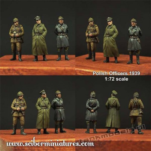 Polish Officers 1939 Set 1. - Scibor Miniatures 72HM0008