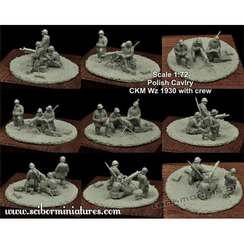 Polish CKM Wz 1930 with Crew Set 2 - Ścibor Miniatures 72HM0016