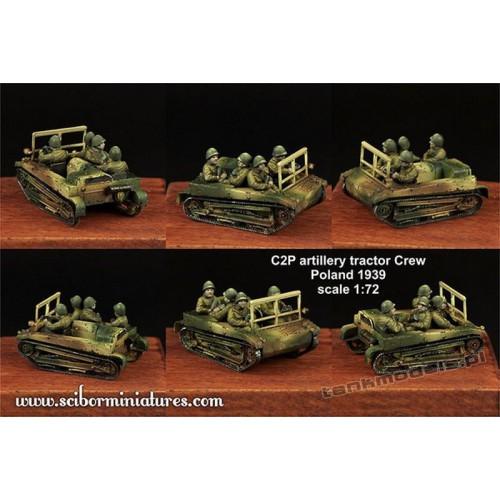C2P artillery tractor Crew Set. 2 - Scibor Miniatures 72HM0020