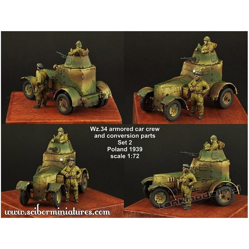 Polish Wz.34 Crew Set 2 - Scibor Miniatures 72HM0023