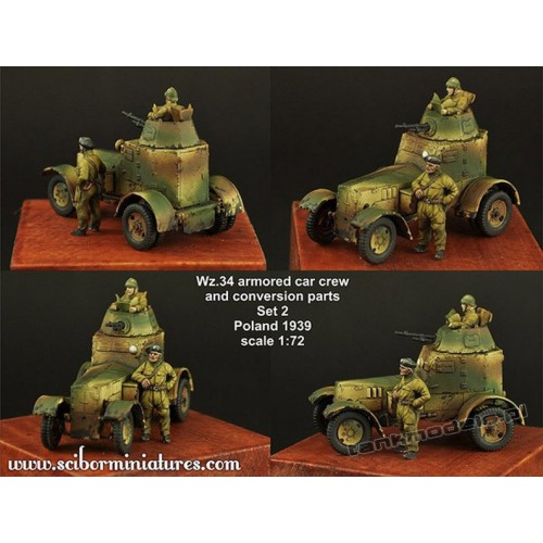 Polish Wz.34 Crew Set 1 - Scibor Miniatures 72HM0022