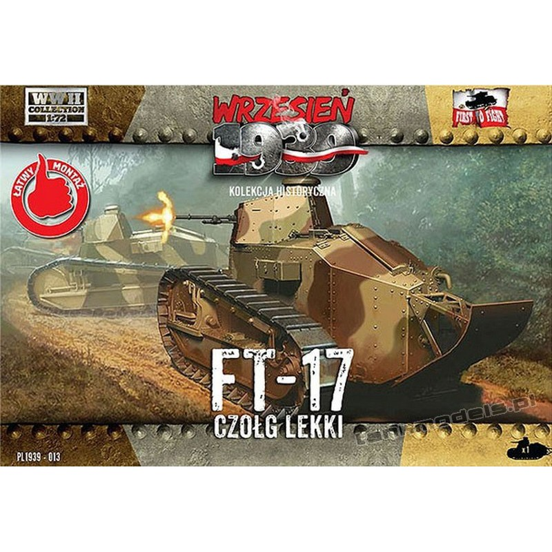 Renault FT-17 w/ octagonal turret - First To Fight PL1939-013