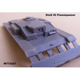 StuG III F8 Flammpanzer (conv.) - Modell Trans 72421