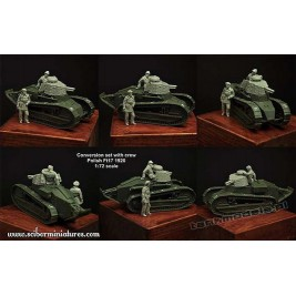 Polish Renault FT-17 1920 turret and crew - Scibor Miniatures 72HM0025