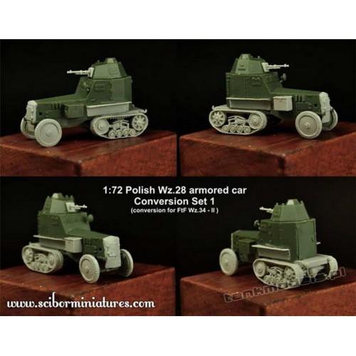 Wz.28 armored car Set.1 (for FTF) - Scibor Miniatures 72HM0027