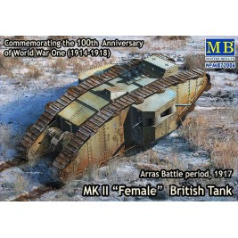 "MK II ""Female"" British Tank, Arras Battle period, 1917 - Master Box 72006"