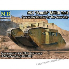"MK I ""Female"" British Tank, Special Modification for the Gaza Strip - Master Box 72004"