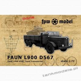 Faun L900 D587 tank transporter - FPW Model 72003