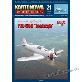 """PZL-50A """"Jastrząb"""" - Kartonowa Kolekcja 21"""