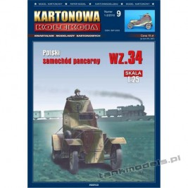 Wz. 34-II polish armoured car - Kartonowa Kolekcja 9