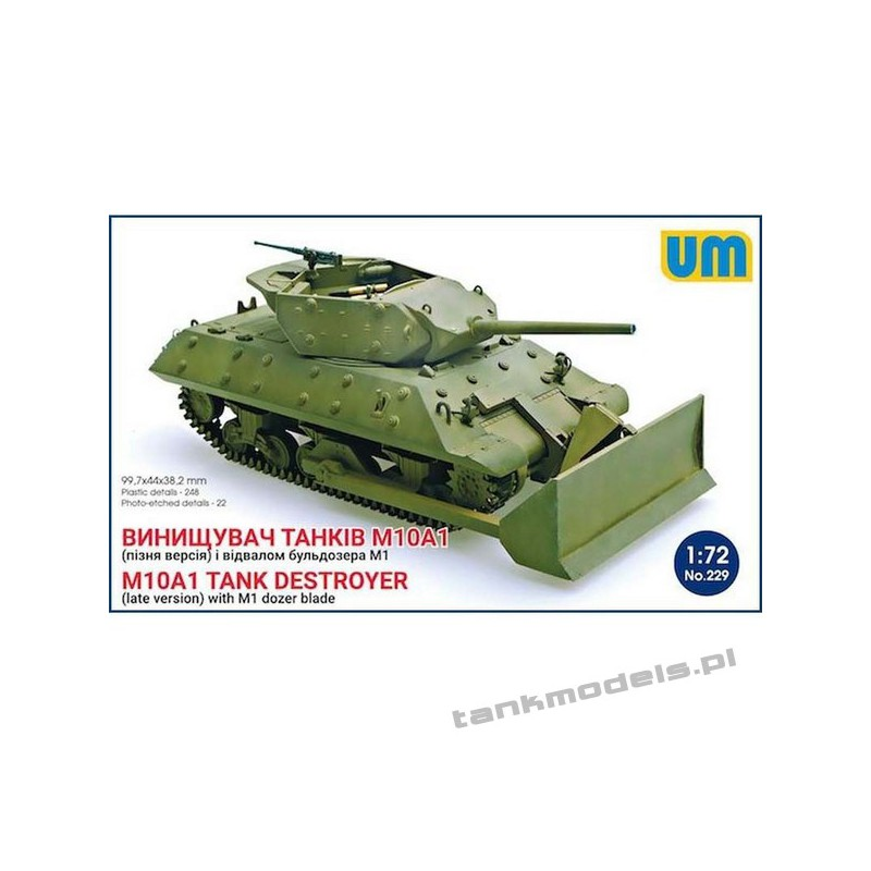 M10A1 Tank destroyer (late version) with M1 Dozer Blade - Unimodels 229