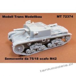 Semovente da 75/18 scafo M42 - Modell Trans 72374