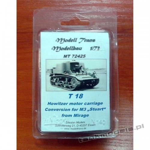 T18 howitzer motor carriage - Modell Trans 72425