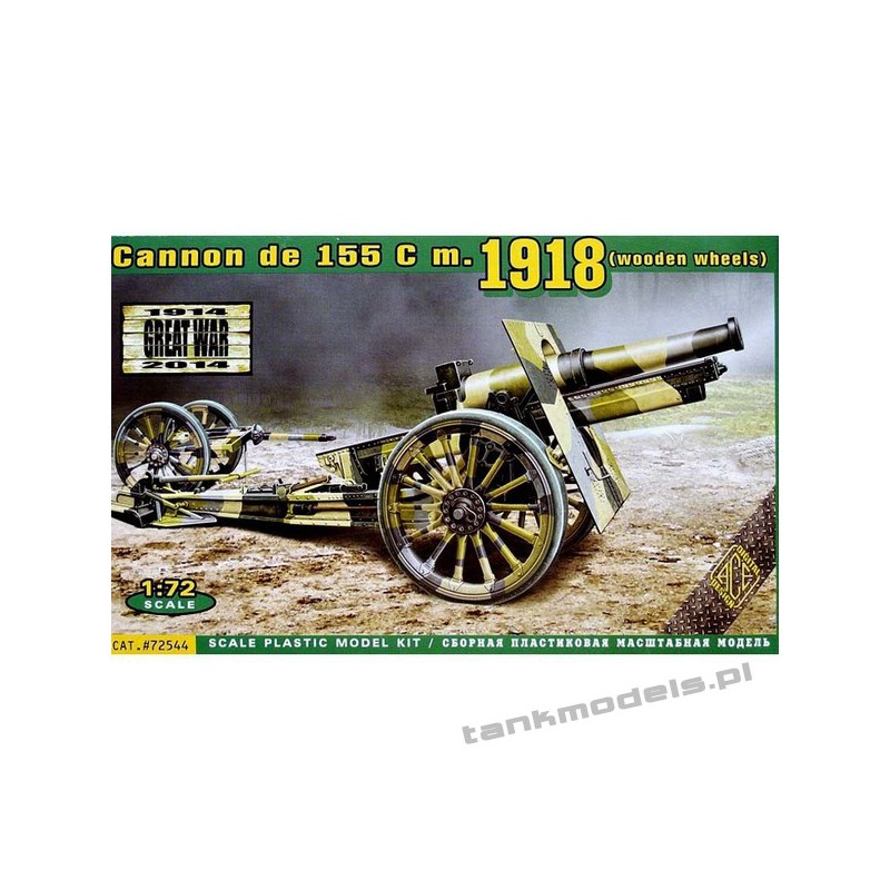 Cannon de 155 cm1918 (wooden wheels) - ACE 72544