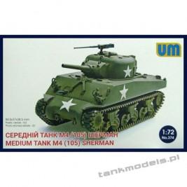 Sherman M4 (105mm) - Unimodels 374