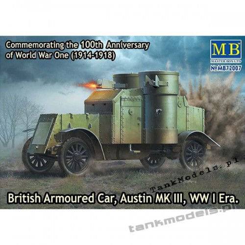 Austin Mk III British Armoured Car (WW I) - Master Box 72007