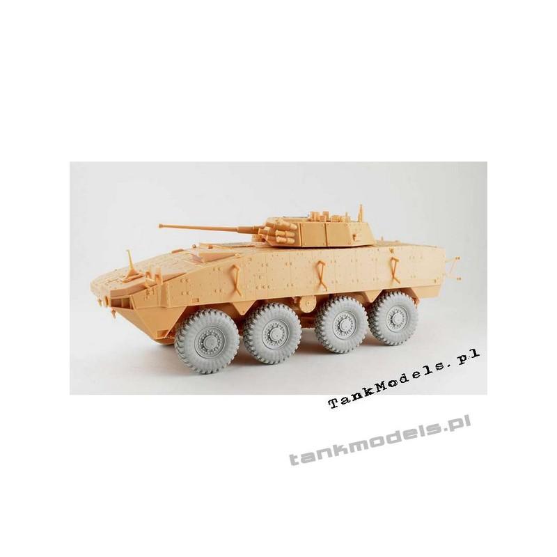 KTO Rosomak wheels Michelin type XZL (IBG) - PanzerArt RE35-401
