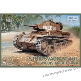 "Stridsvagn m/40 L ""Pueblo"" Swedish light tank - IBG 72036"