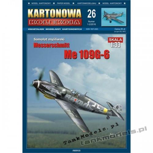Messerschmitt Me 109G-6 - Kartonowa Kolekcja 26
