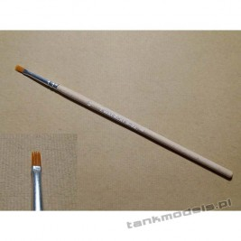 S-116 - Flat brush, synthetic (gold) no. 0 - Walecki 116-0