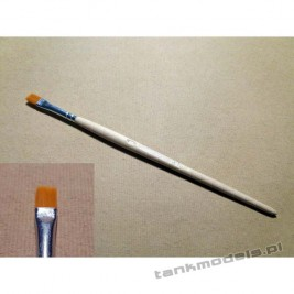 S-116 - Flat brush, synthetic (gold) no. 6 - Walecki 116-6