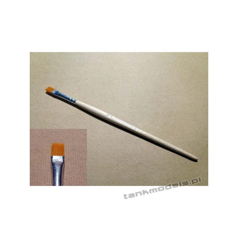 S-116 - Flat brush, synthetic (gold) no. 6 - Walecki 116-6