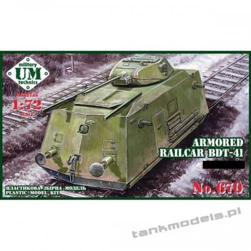 Armored railcar BDT-41 - UMMT 670