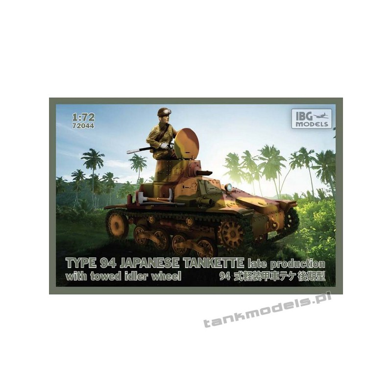Type 94 Japanese tankette late production with towed idler wheel - IBG 72044