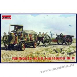 FWD Model B 3-ton & BL 8-inch howitzer Mk.VI - Roden 713