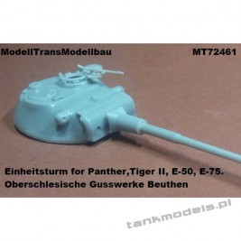 Einheitsturm for Panther, Tiger II, E-50/75 - Modell Trans 72461