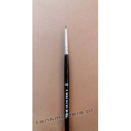 Seria K100 - Retouching brush, pointed no. 0 (Kolinsky) - Walecki K100-0