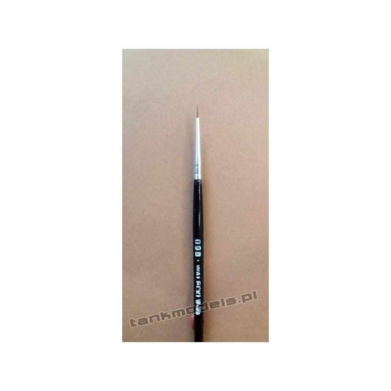 Seria K100 - Retouching brush, pointed no. 000 (Kolinsky) - Walecki K100-000