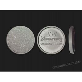 Round Plastic Base 25mm - V&V Miniatures PB25