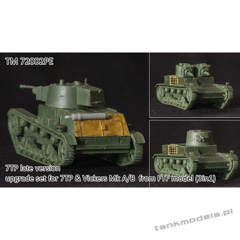 7TP late conv. & upgrade set for Vickers A/B from FTF - Tank Models TM72002PE