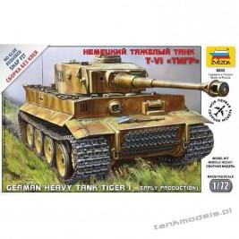 Tiger I German Heavy Tank - Zvezda 5002