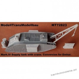 Mark IV supply tank with crane. (conv. for Emhar) - Modell Trans 72823