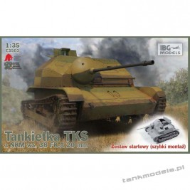 TKS Polish Light Reconnaissance Tank with 20mm gun (easy kit) - IBG E3503