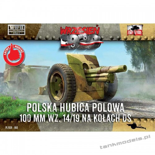 Skoda 100mm Polish Howitzer on DS wheels - First To Fight PL1939-60