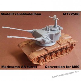 Marksman AA turret (conversion for M60) - Modell Trans 72508