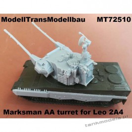 Marksman AA turret (conv. for Leopard 2A4 Revell) - Modell Trans 72510