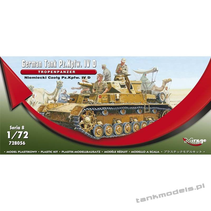 Panzer IV Ausf. D 'Tropenpanzer' (Afrika Korps) - Mirage Hobby 728056