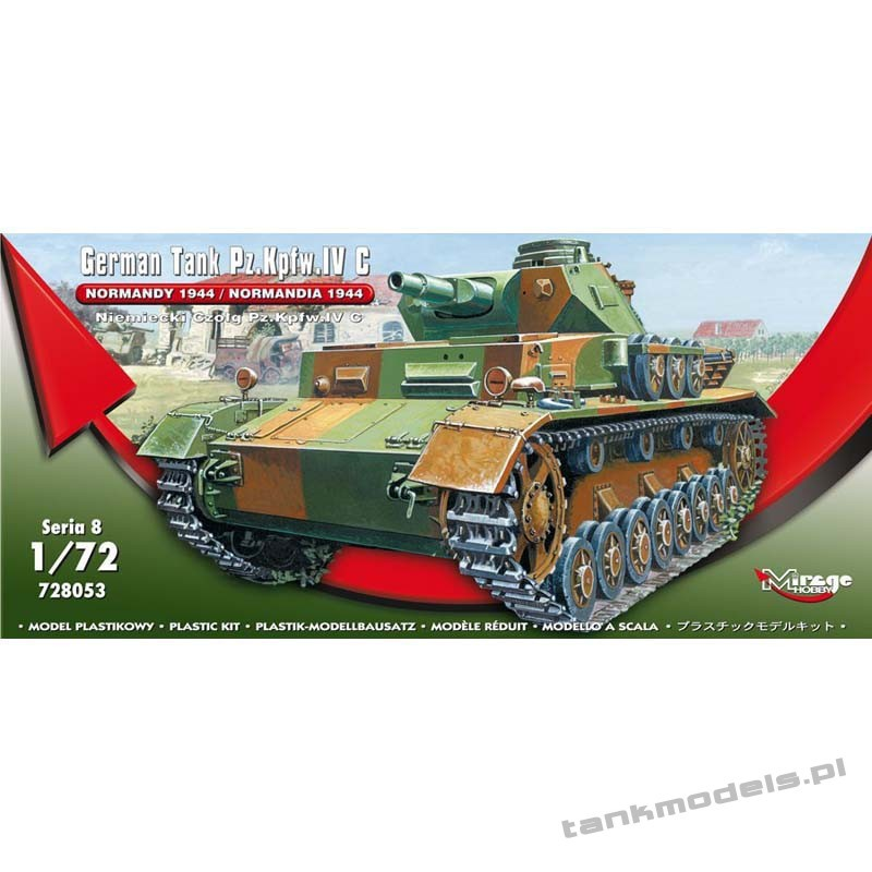 Panzer IV Ausf. C 'Normandy 1944' - Mirage Hobby 728053
