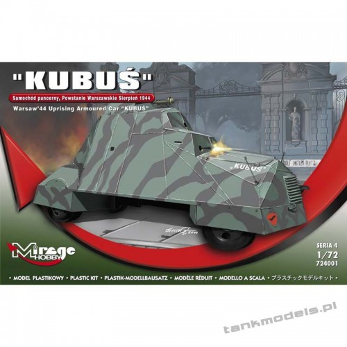 """Kubuś"" Armoured Car (Warsaw Uprising 1944) - Mirage Hobby 724001"