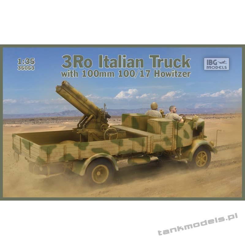 3Ro Italian Truck with 100/17 100mm Howitzer - IBG 35053