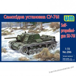SU-76I Soviet self-propelled gun - Unimodels 286